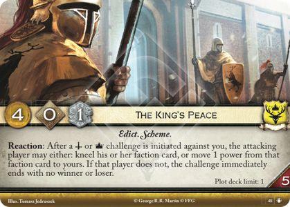 Plot Rehab: The King's Peace