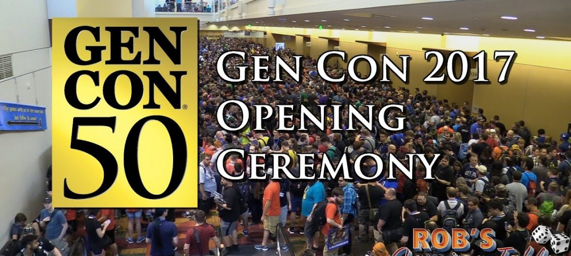 Gen Con 2017 Opening Ceremony and Dealer Hall Rush (Gen Con 50)